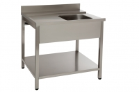 Pré wash table with sink
