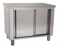 Working table with cupboard